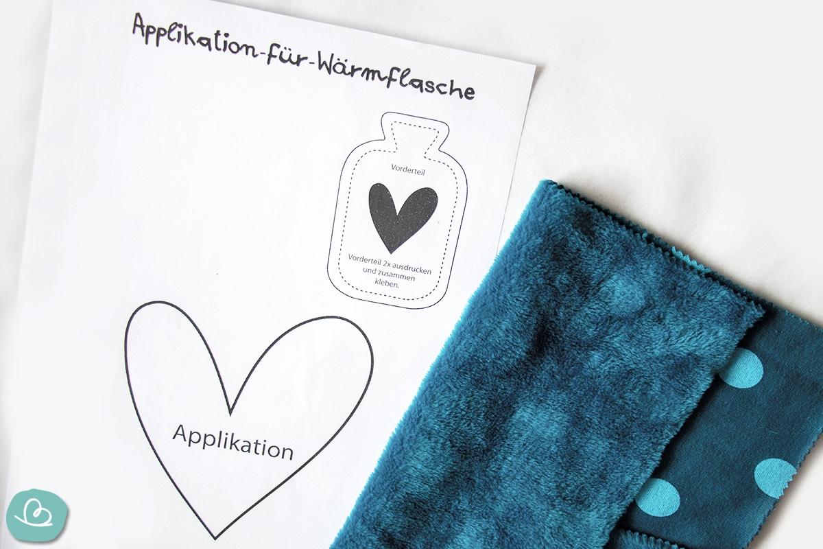 Applikation Herz Vorlage