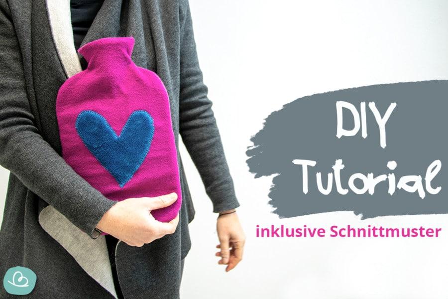 Wärmflaschenbezug nähen - Meine DIY Wärmflaschenhülle