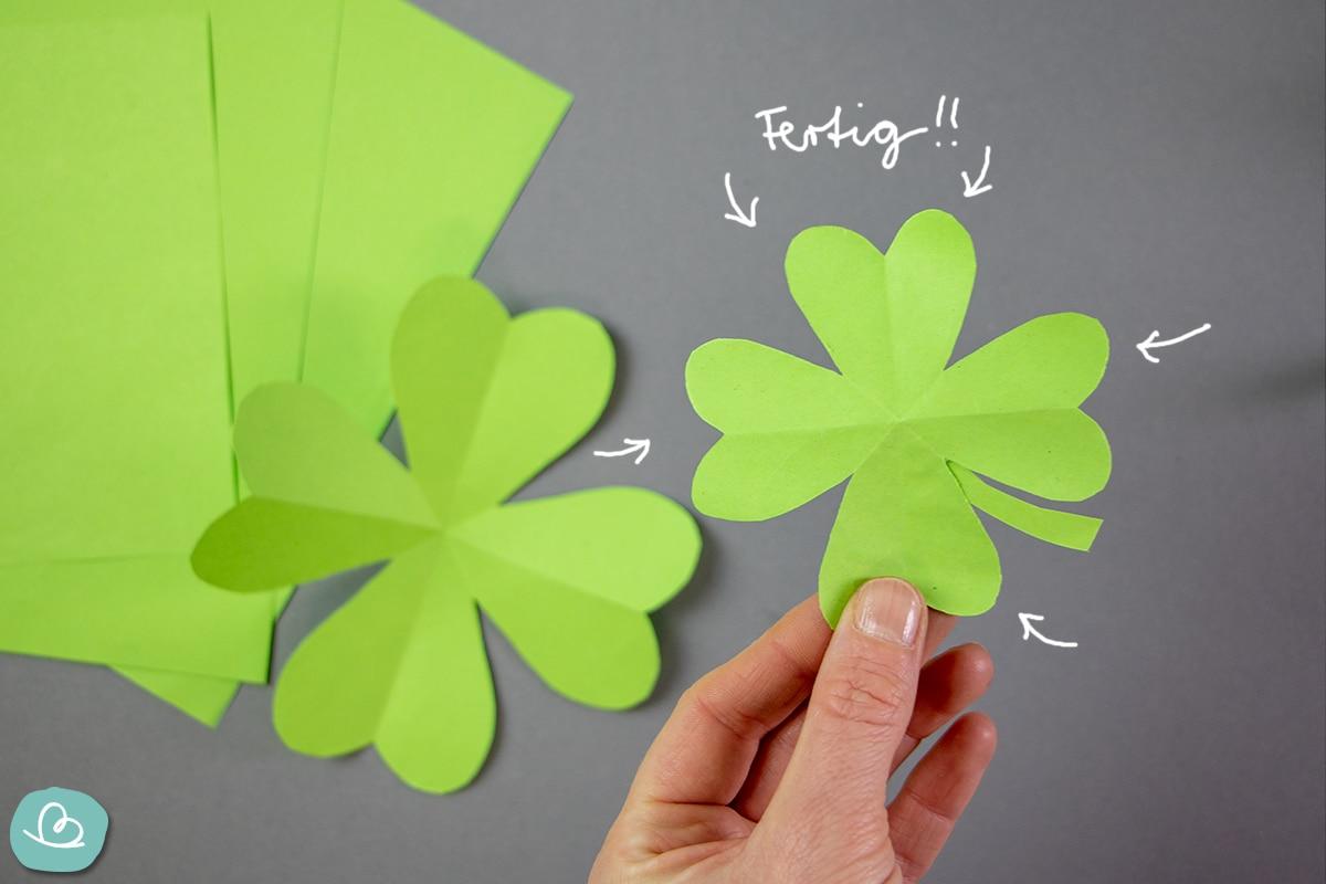 Kleeblatt aus Papier