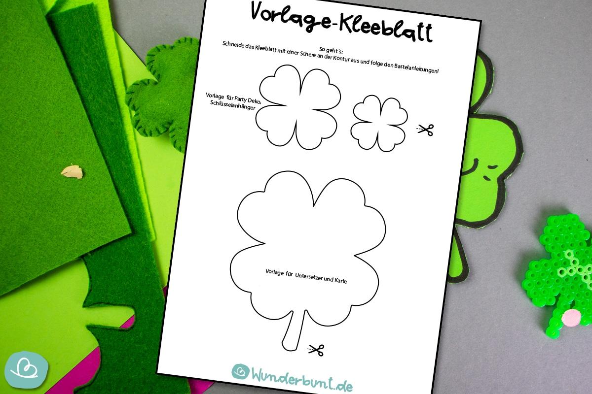 Kleeblatt Vorlage Glucksbringer Vorlagen 8