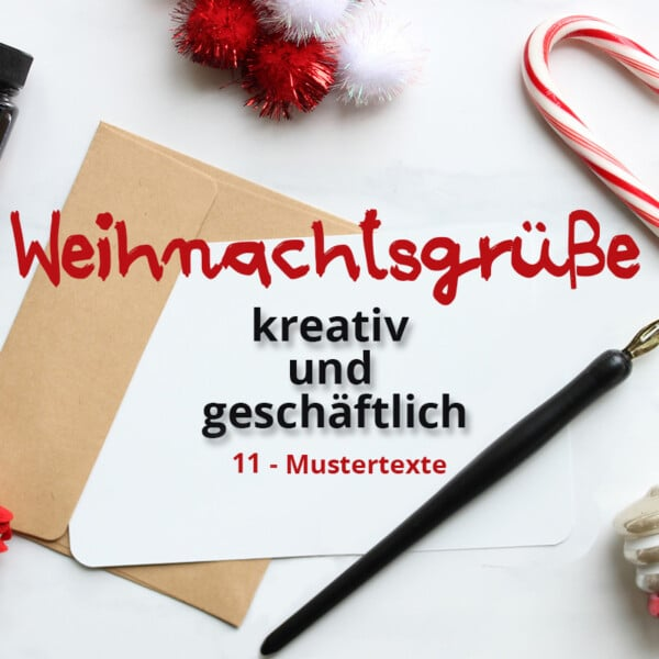 kreative und geschäftliche Weihnachtsgrüße
