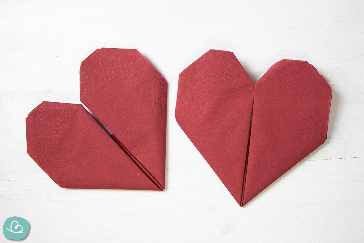 Servietten Herzform