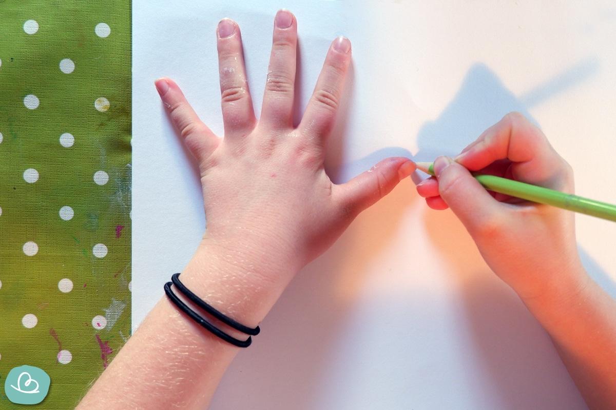 Hände nachzeichen