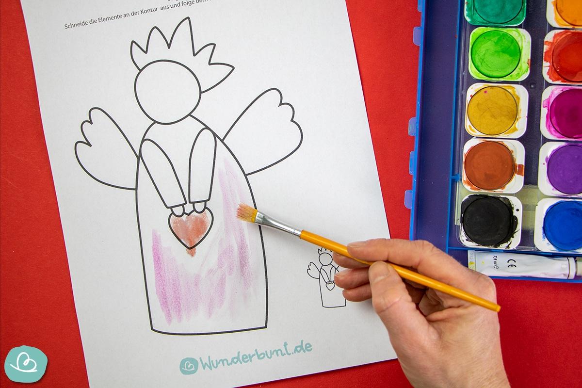 malen mit Wasserfarbe