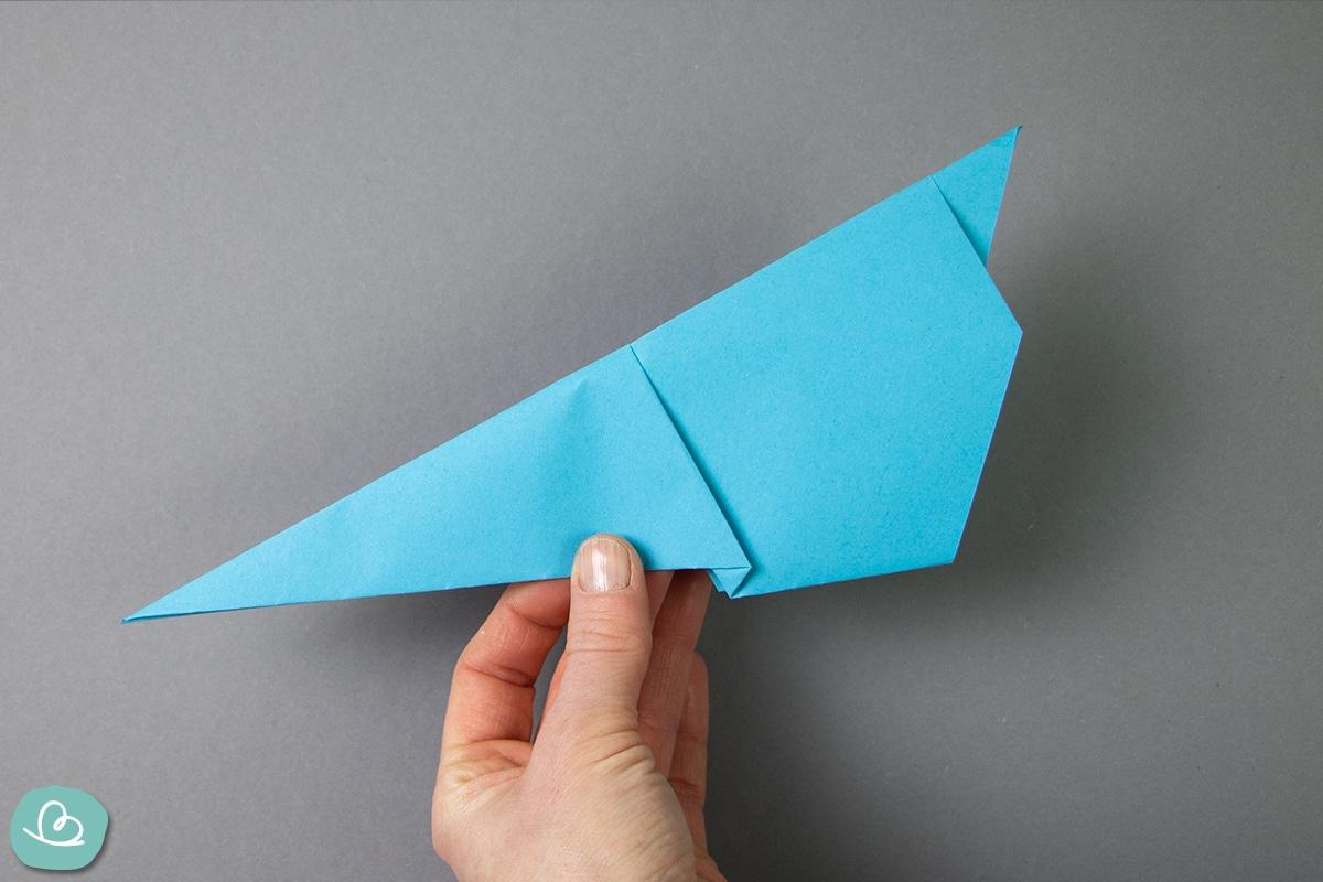 Papierform drehen.
