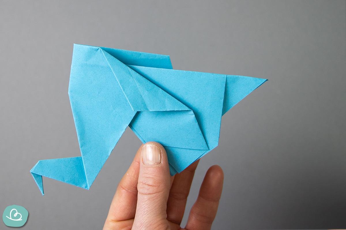Elefant aus Origami Papier.