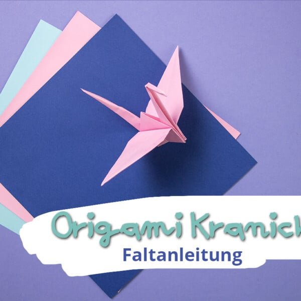 Origami Kranich falten
