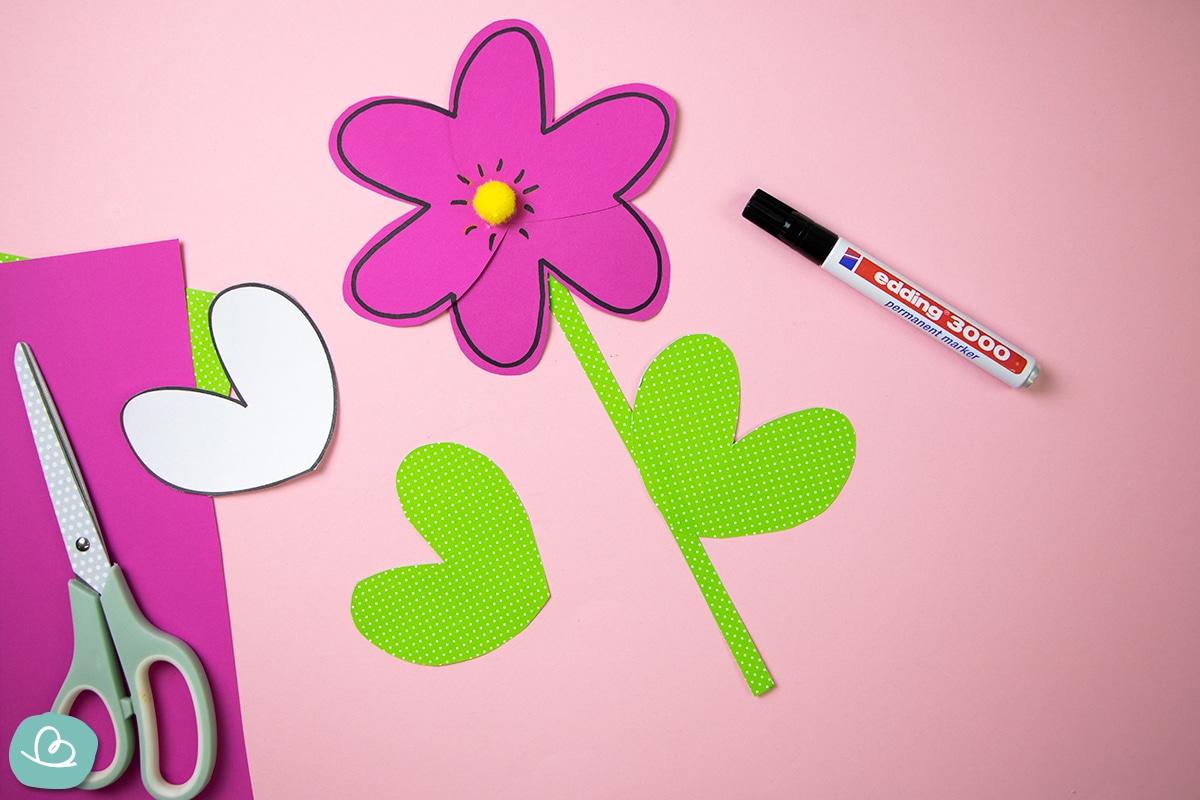 Blumen basteln