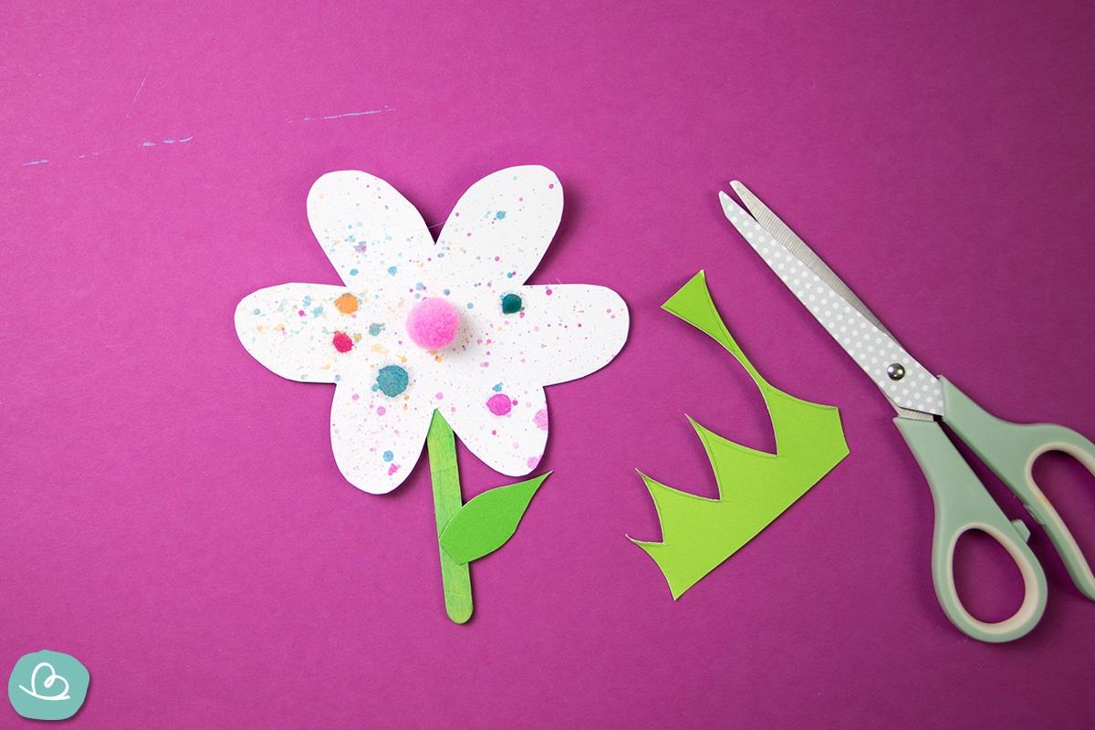 Blume basteln.