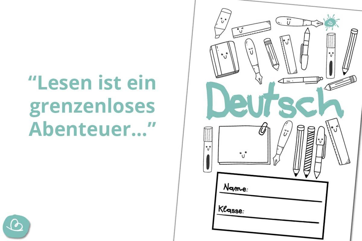 Deckblatt Deutschunterricht