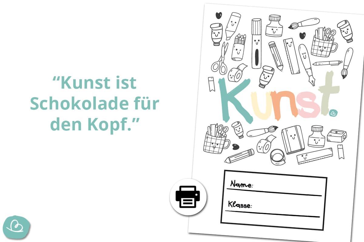 Deckblatt Kunsterziehung.