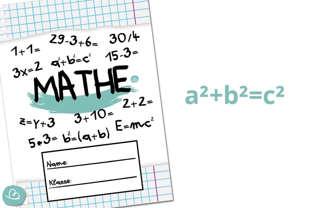 Deckblatt Mathe zum Ausdrucken