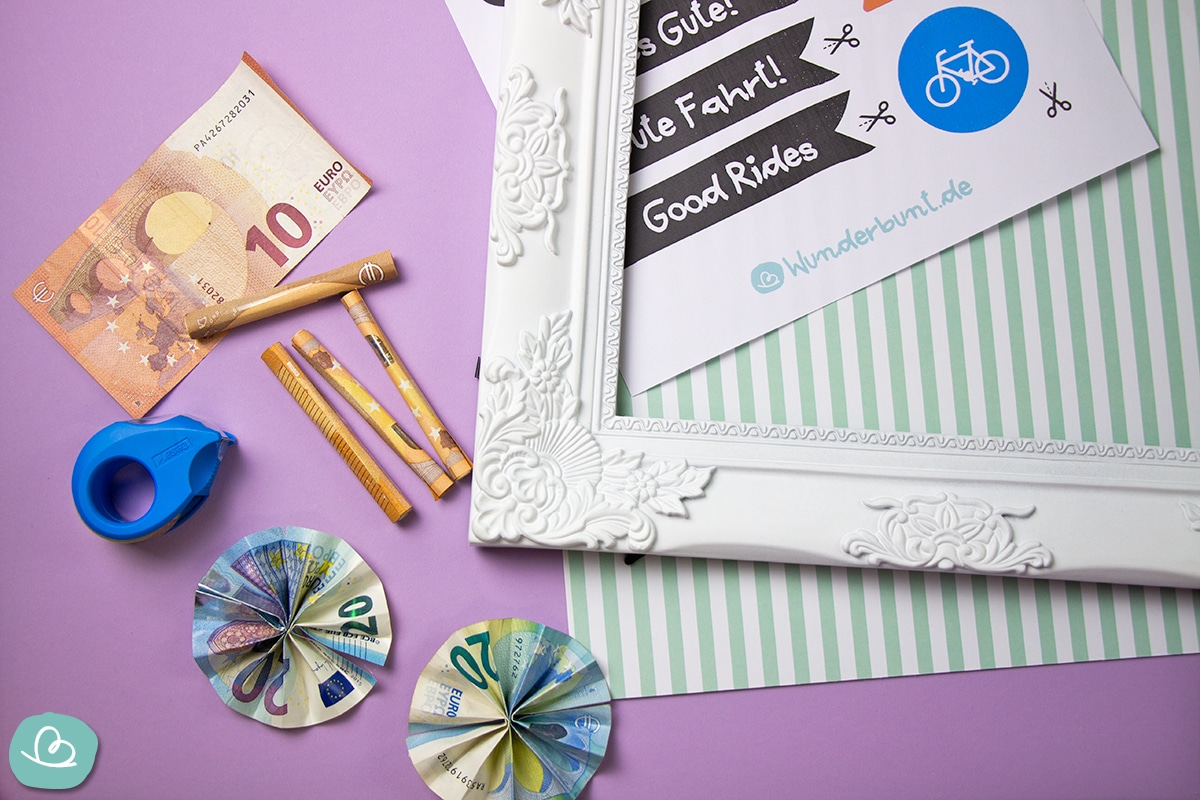 Geldgeschenk für ein Fahrrad originell verpacken