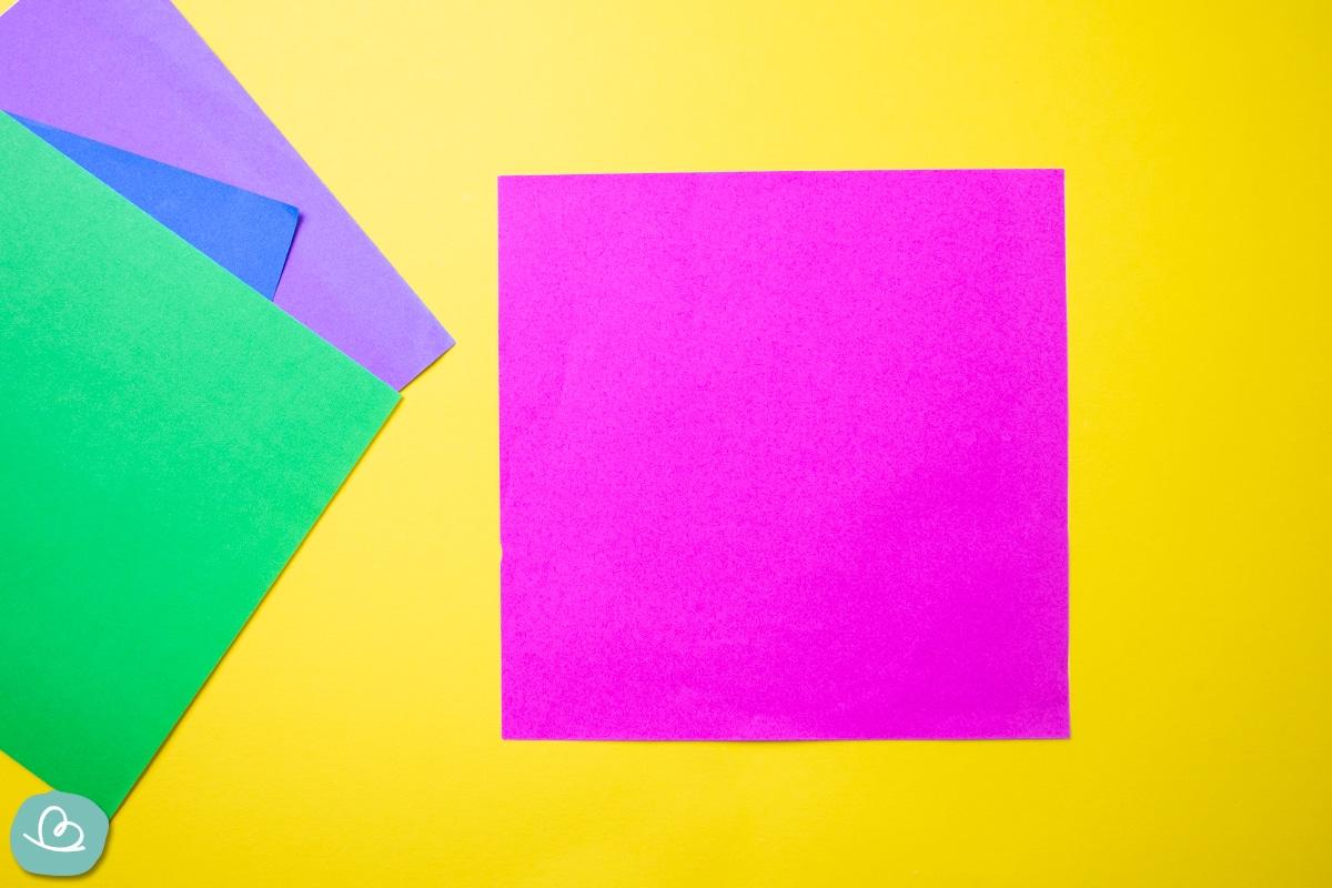 Buntes Origami Papier.