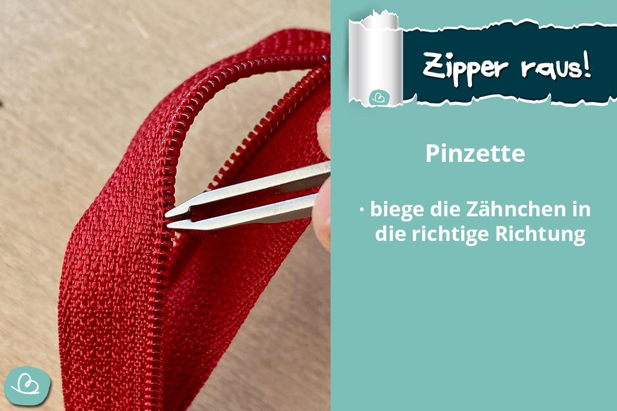 Reißverschluss Zipper reparieren.