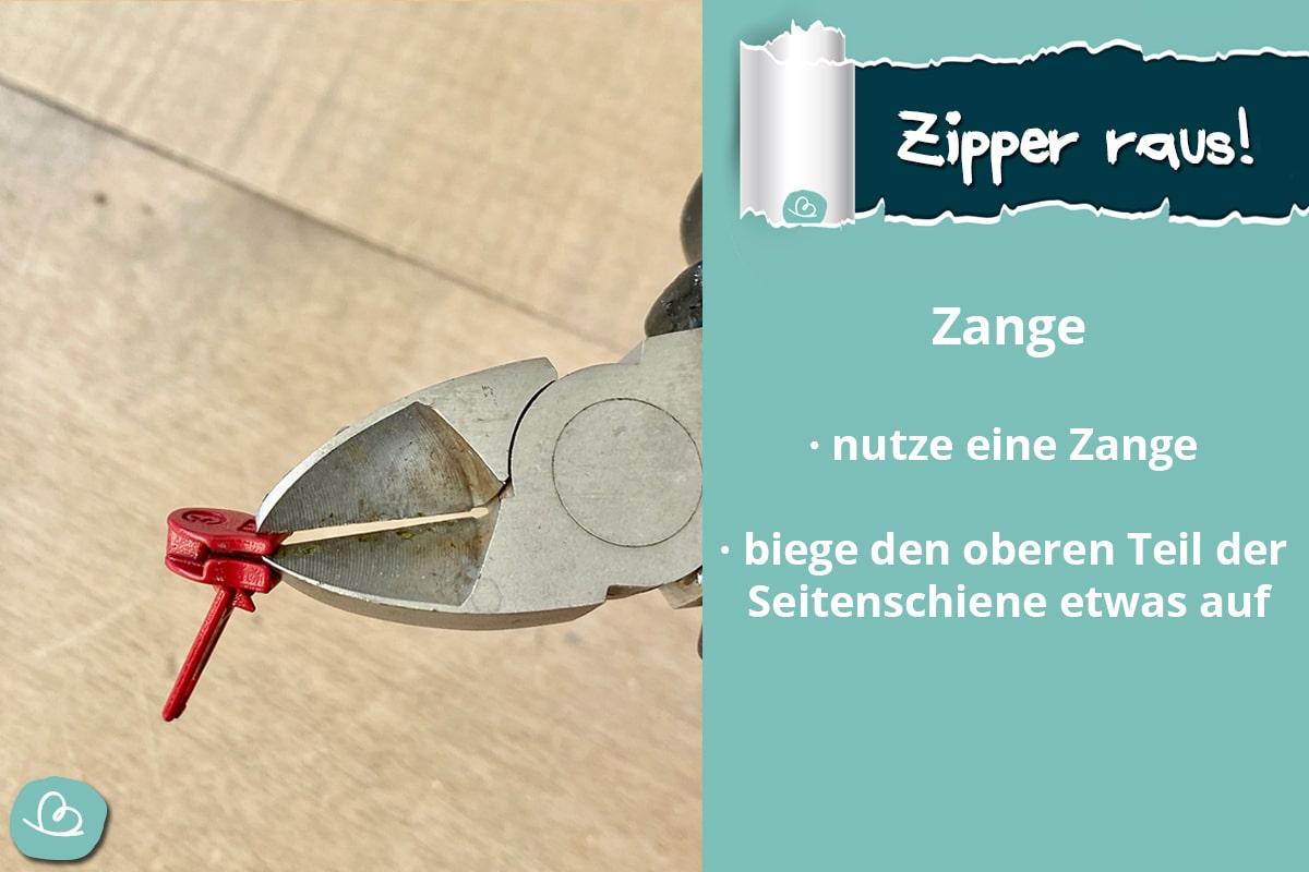 Zipper raus
