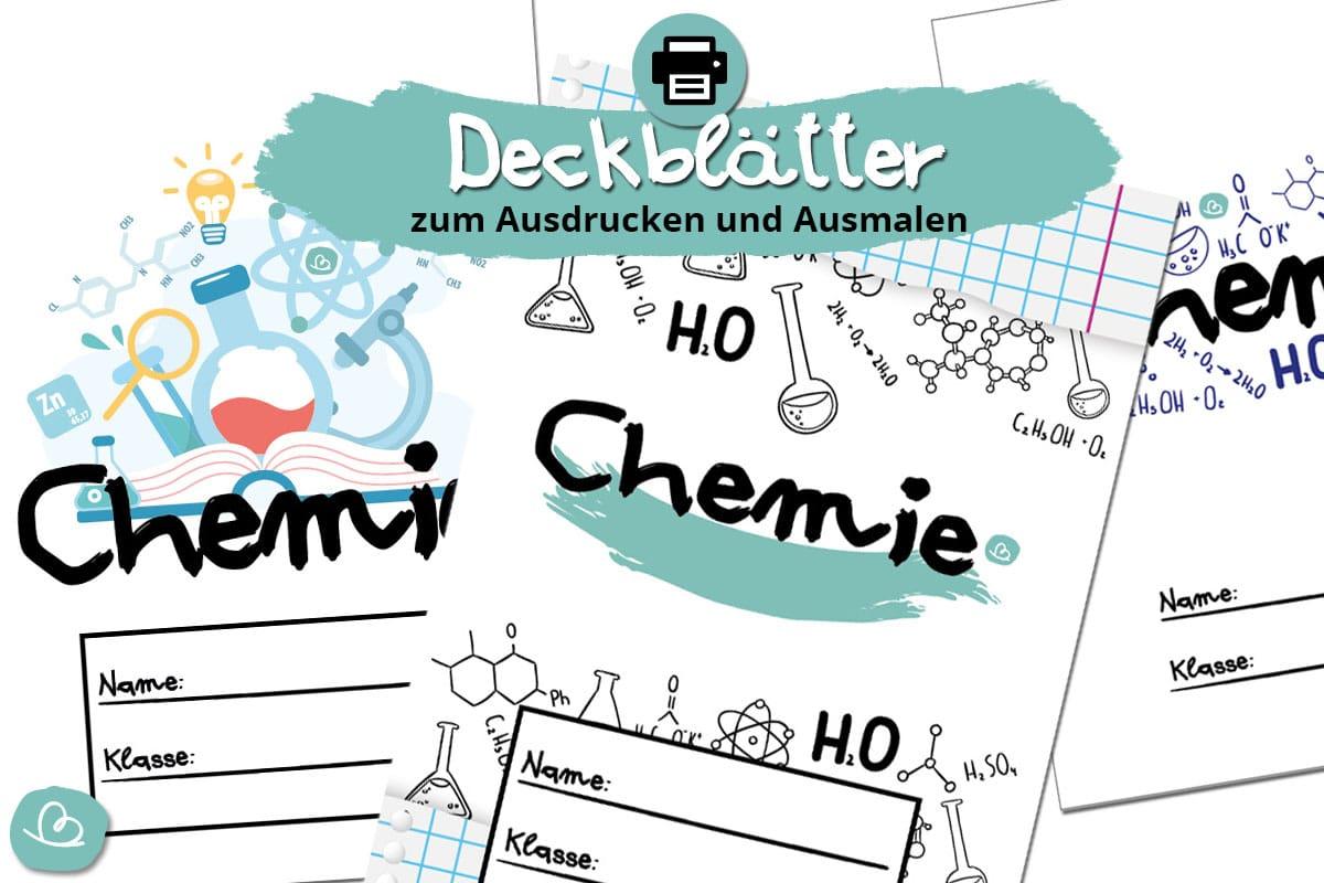 Deckblätter für Chemie zum Ausdrucken