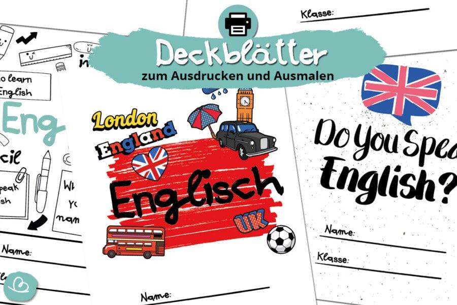 Deckblätter Englisch