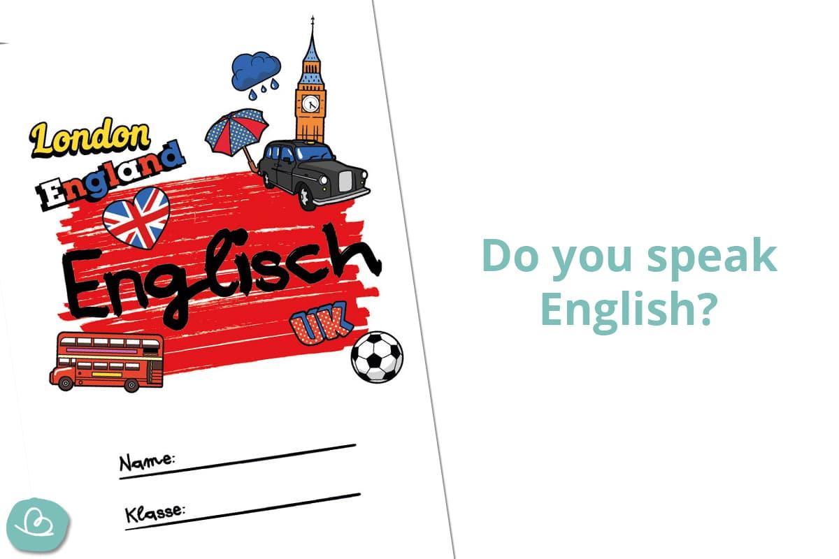 8 Deckblätter für Englisch zum Ausdrucken | Wunderbunt.de
