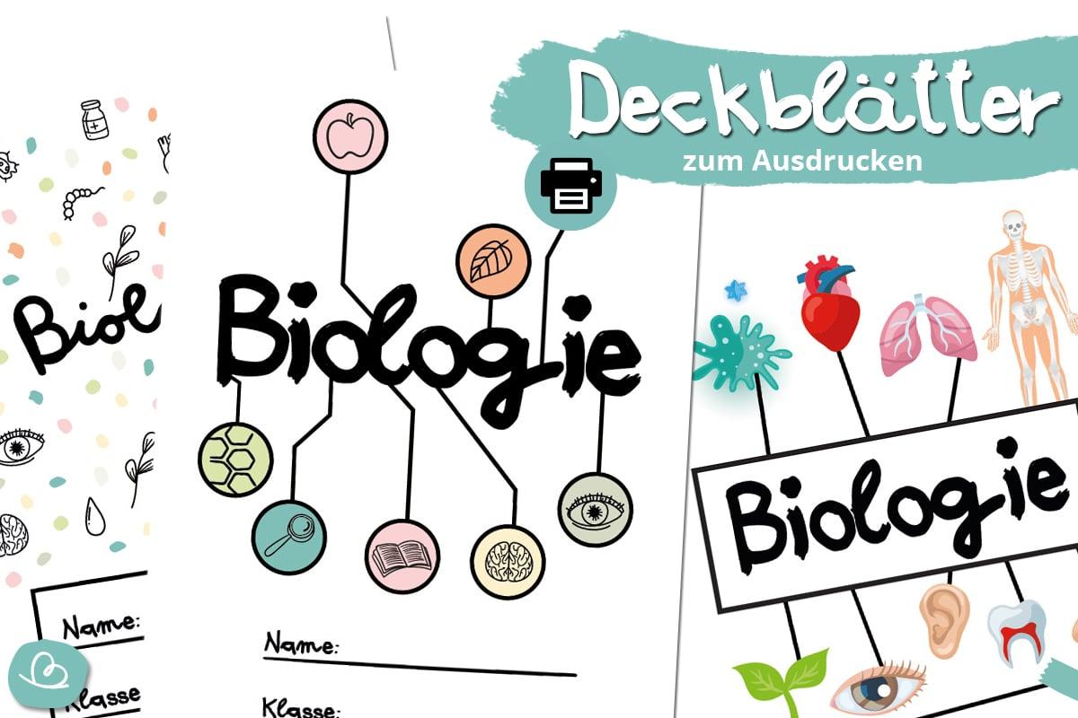 Deckblätter für Biologie