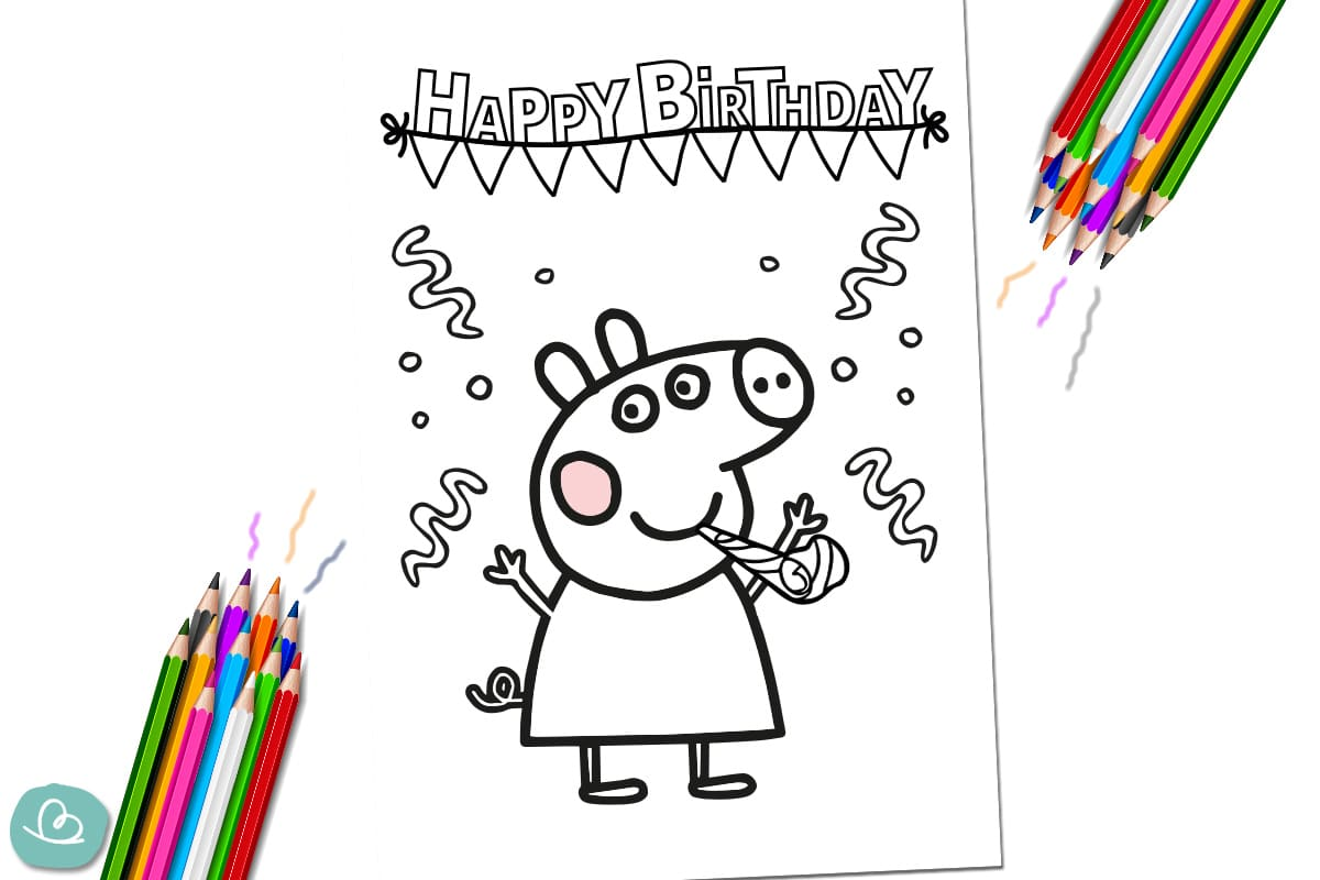 Peppa Wutz feiert Geburtstag.