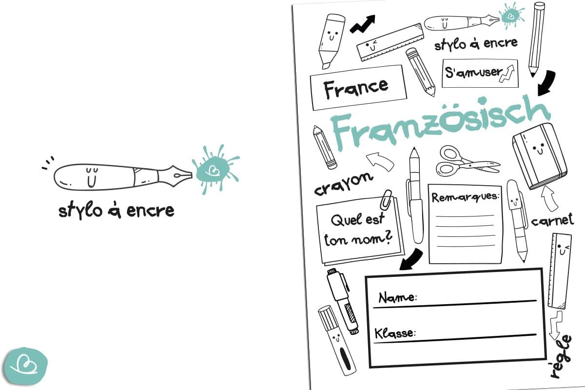 Deckblatt für den Französisch Unterricht.