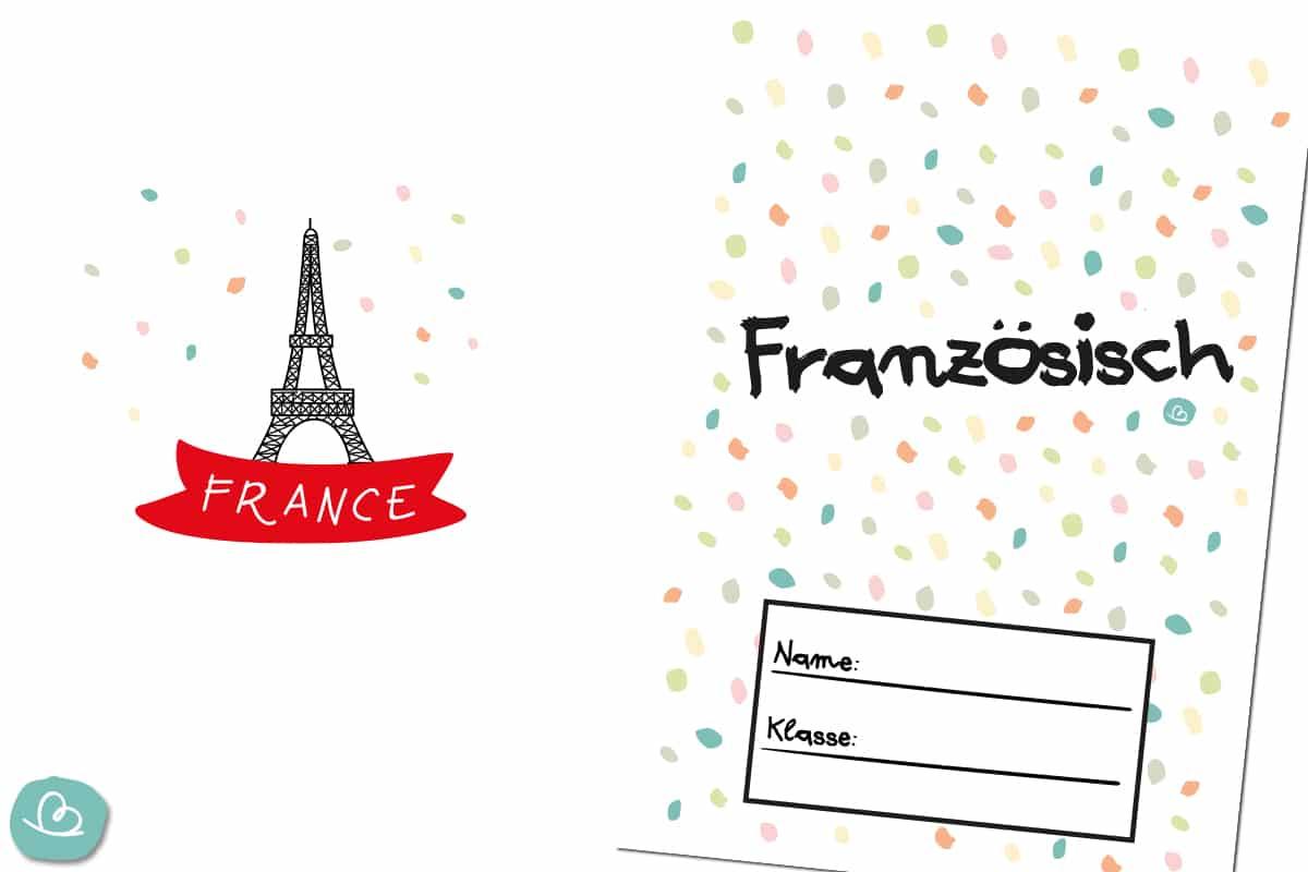 Französisch Deckblatt