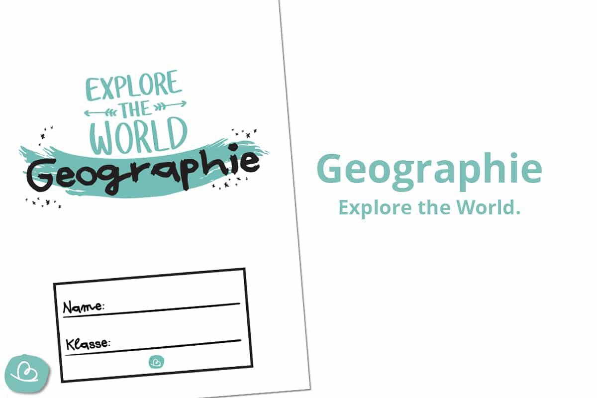 Deckblätter für Geographie.