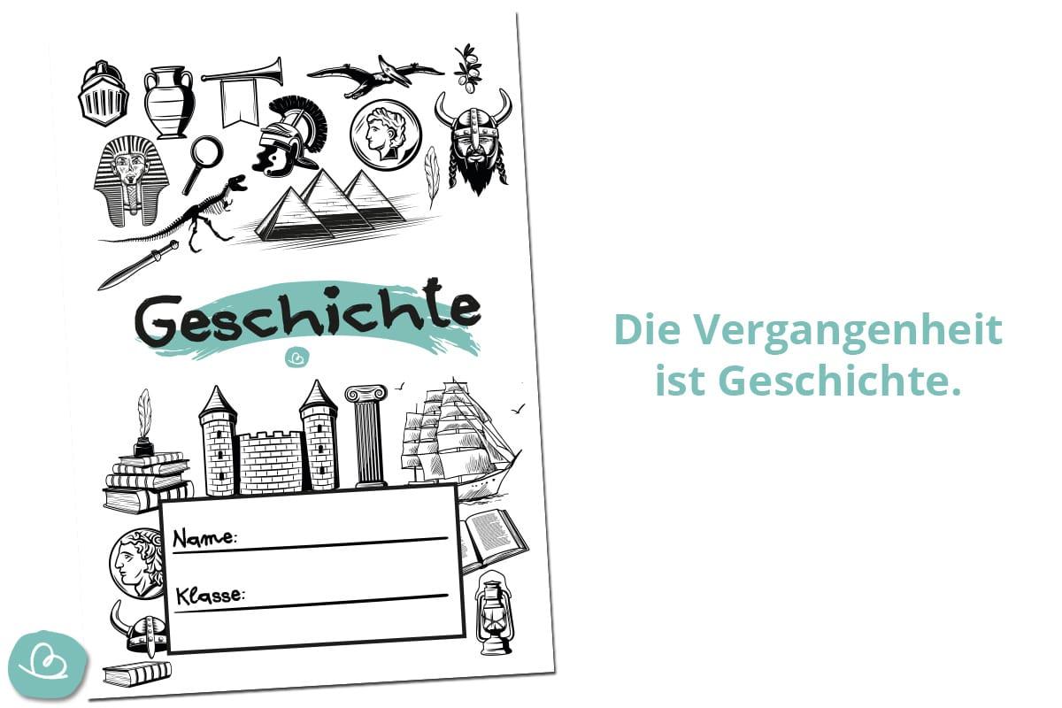 Schuldeckblatt für Geschichte.