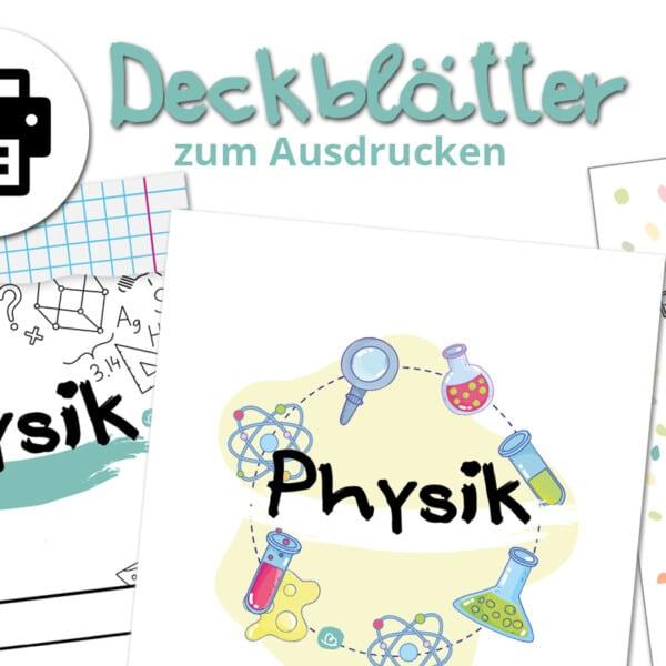 Deckblätter für Physik zum Ausdrucken.