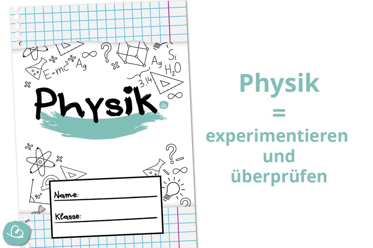 Deckblatt für Physik zum Ausdrucken.