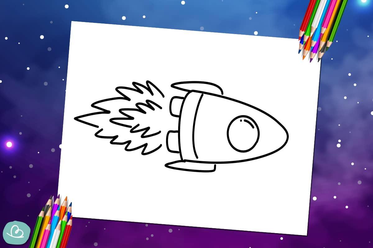 Rakete zum Ausmalen