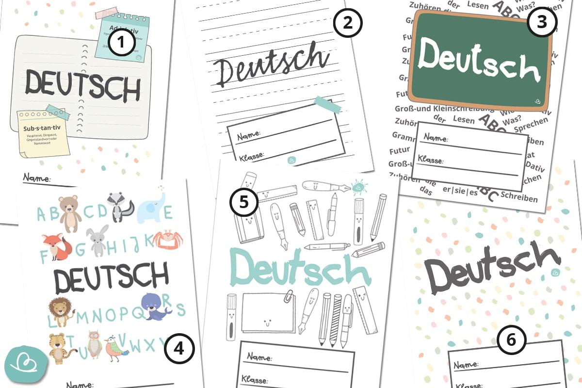 Deckblätter für Deutsch