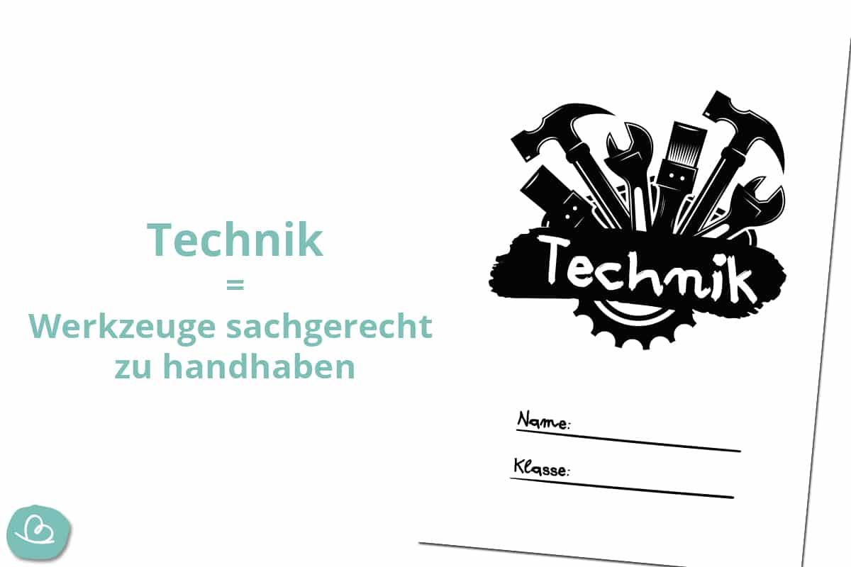 Deckblätter für Technik