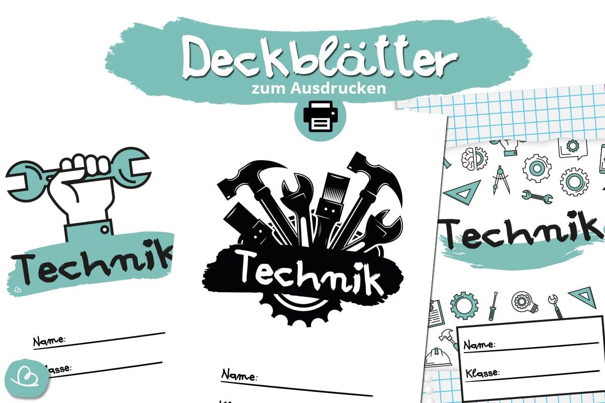 Deckblätter für Technik zum Ausdrucken