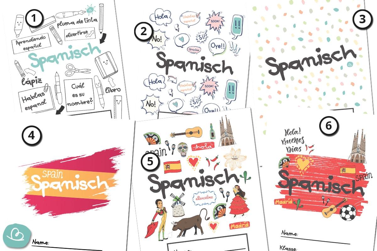 Deckblätter Spanisch