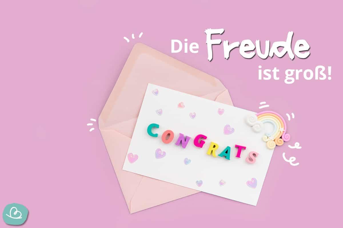 Gratulation zum Mädchen