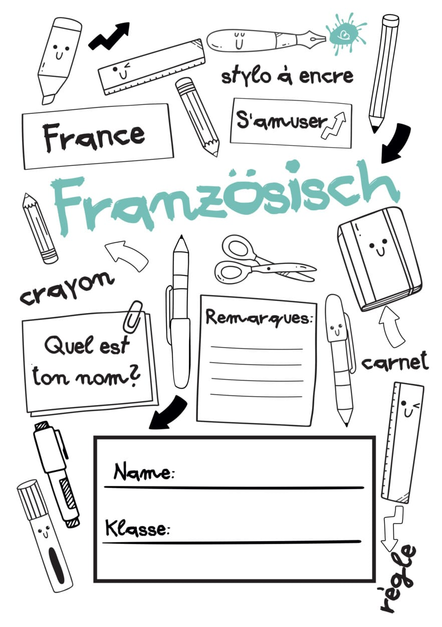 Deckblatt Französisch