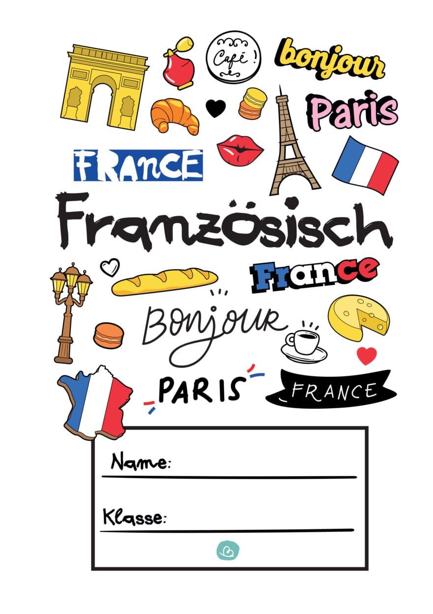 Deckblatt französische Sprache