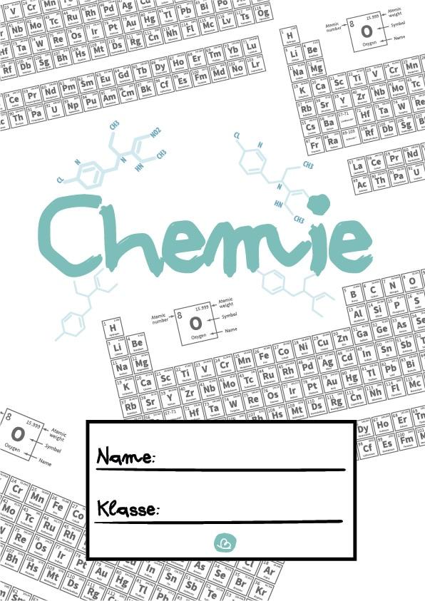 Chemie Deckblatt zum Ausdrucken