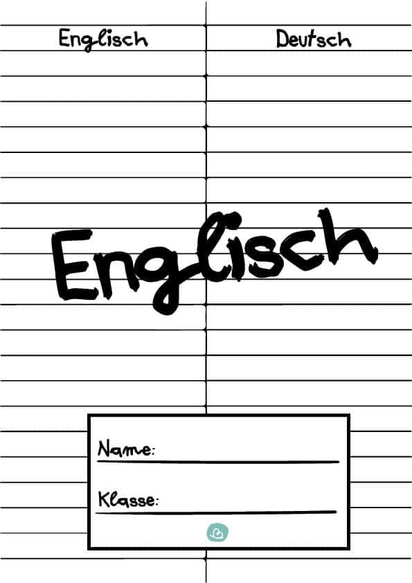 Deckblatt für den Englischunterricht
