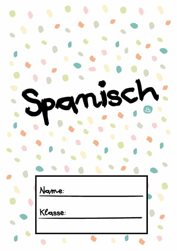 Druckvorlage Spanisch