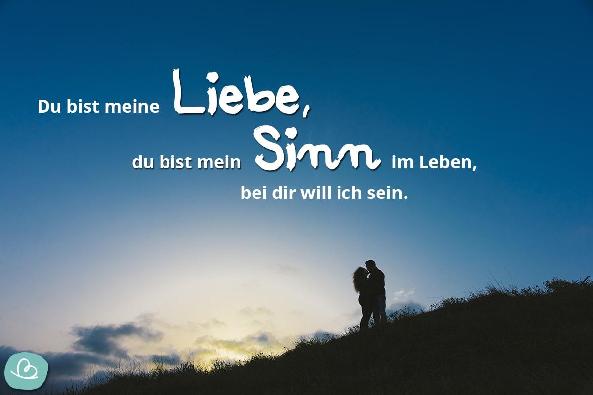 Spruch über Liebe.