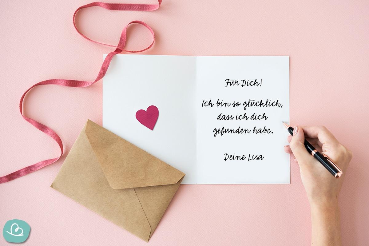Liebesbrief schreiben.