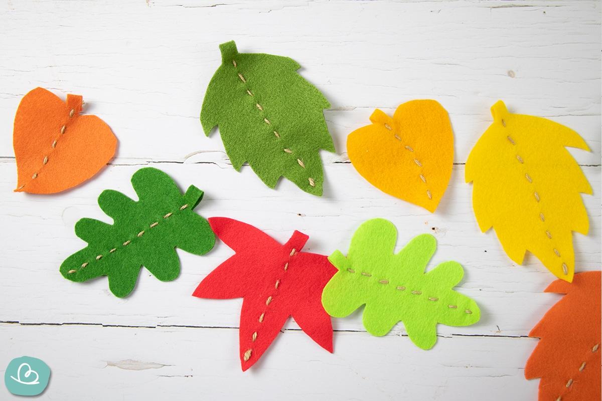 Herbstblätter basteln.
