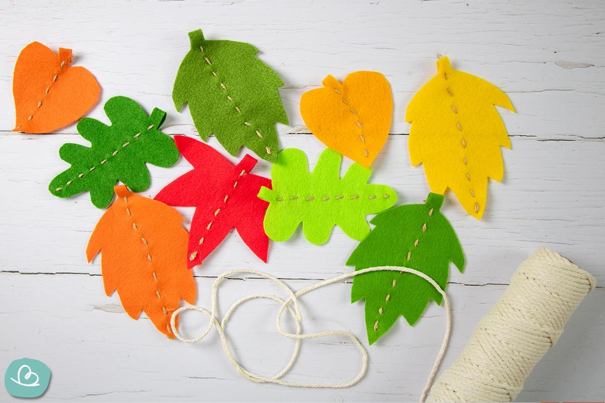 Herbstdekoration basteln.