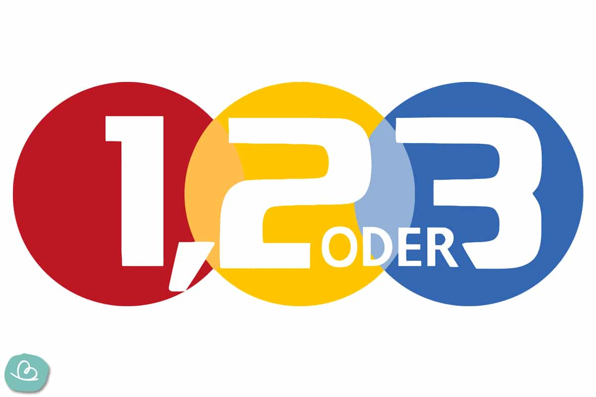 1, 2 oder 3 Logo