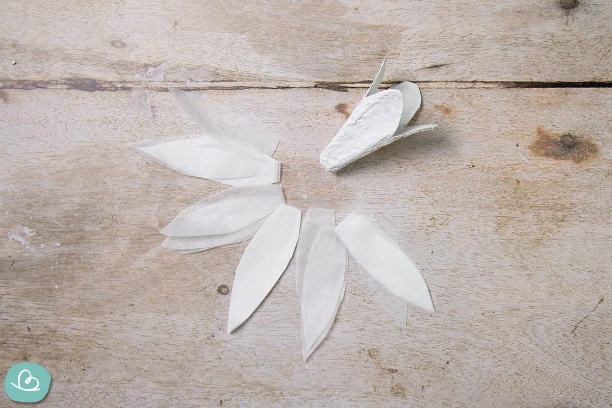 zugeschnittenes Seidenpapier