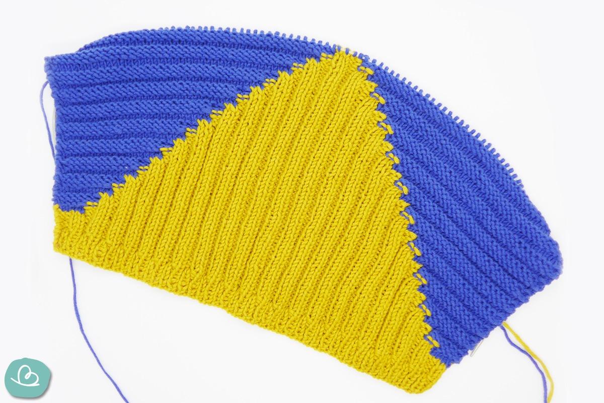 rechte und linke Maschen stricken