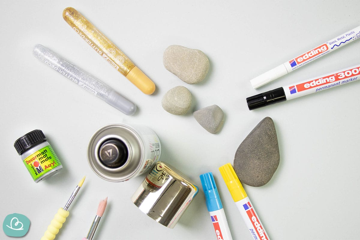 Material Steine Engel bemalen